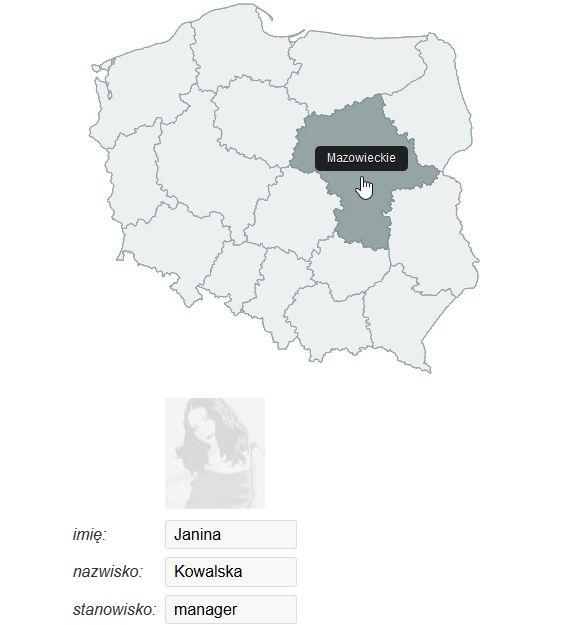 strona kontaktowa z mapą