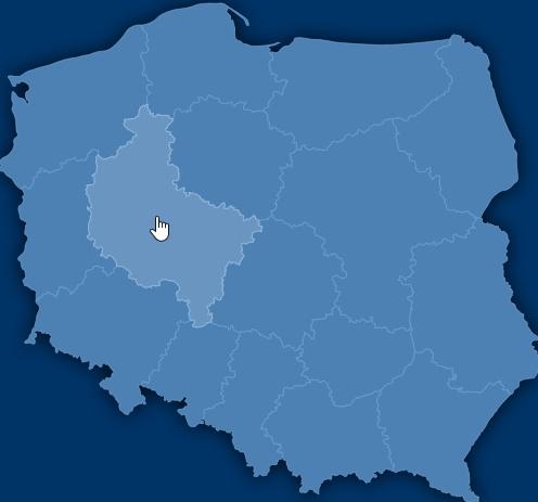 Interaktywna Mapa Polski - nowa grafika dla województw